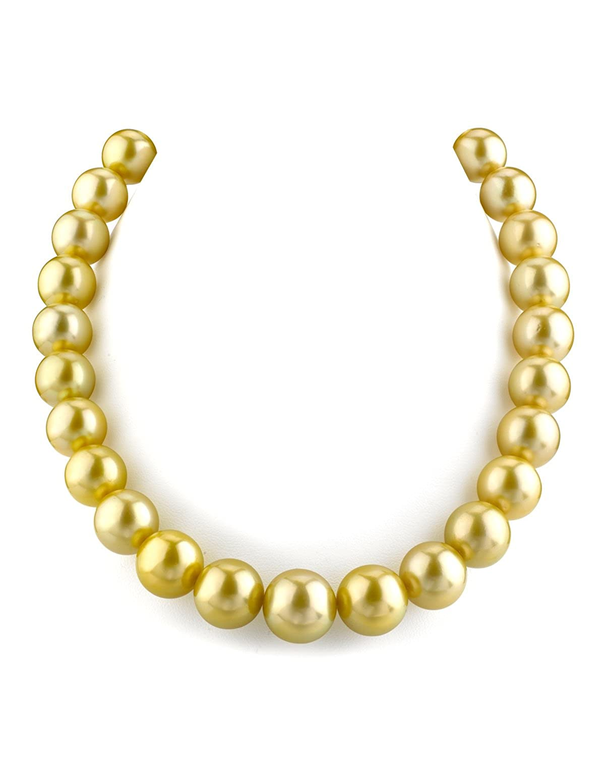 d1b57679acbfc Amazon.com: THE PEARL SOURCE 14K Gold 13-15mm AAAA Quality Round ...