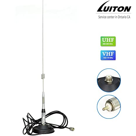 Luiton Mobile Radio Antenna 27 Inch Dual Band Whip Base-load Magnetic  Antenna for Luiton, Baofeng,BTECH Anytone Kenwood TYT Juentai Leixen  TALKCOOP