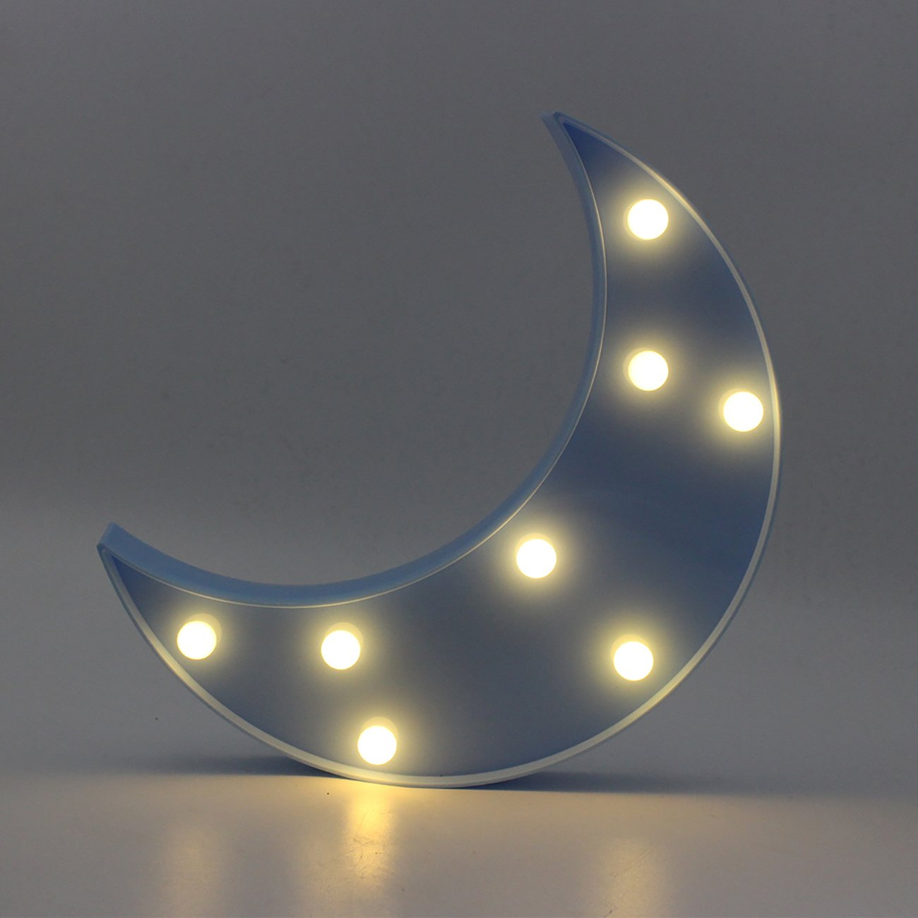 YAEer 3d面白いブラック矢印LEDナイトライト装飾ライトサイン子供赤ちゃんの部屋、パーティー、休日、as Kidギフト ブルー Y3DNL-27  ブルームーン B07CQNFSNY