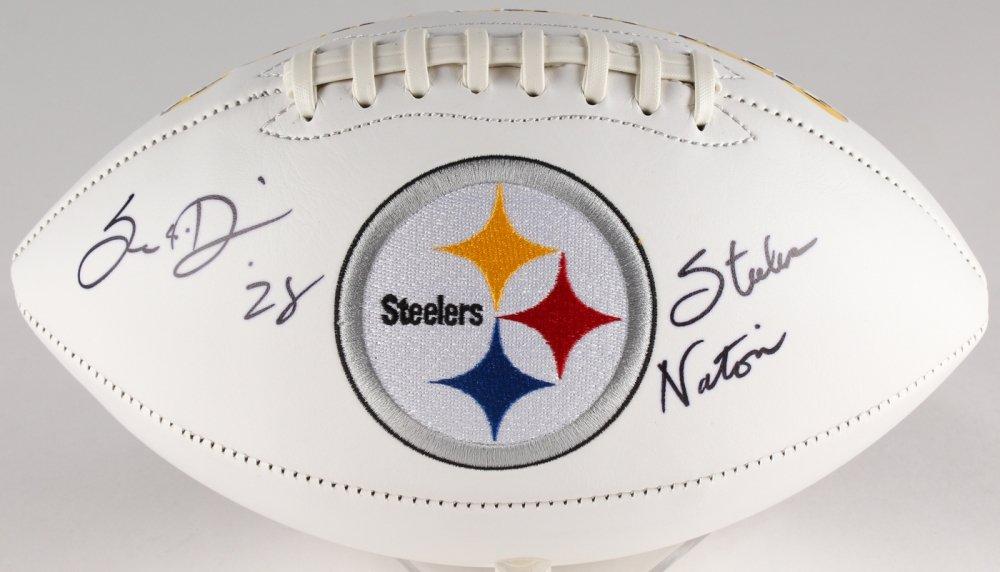 f40d4878b9c Sean Davis #28 Signed Pittsburgh Steelers Logo Football Inscribed
