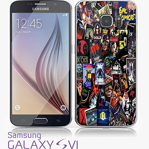 Top Horror Movies collage for iPhone and Samsung Galaxy Case (Samsung Galaxy S6 white) (Top Horror Films For Halloween)