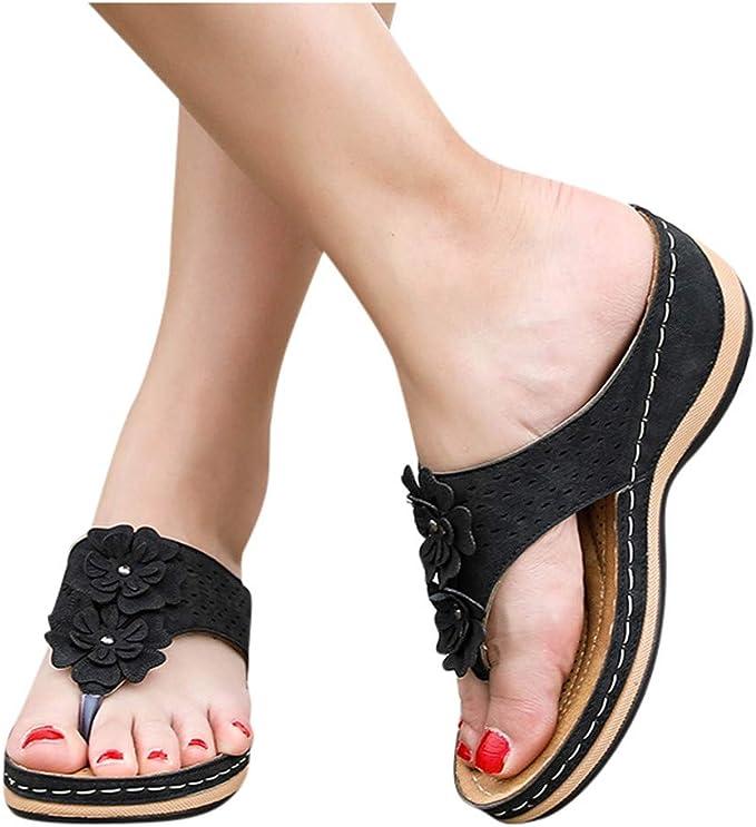 Women's Sandals Flower Wide Fit Shoes