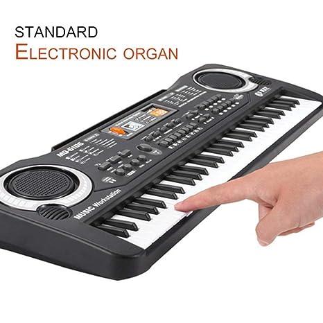 Teclado eléctrico electrónico de 61 Key Kids, órgano eléctrico con micrófono aleatorio: Amazon.es: Instrumentos musicales
