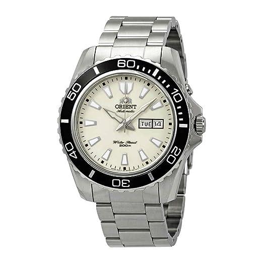 007fecb2dc44 Orient Reloj Analogico para Hombre de Automático con Correa en Acero  Inoxidable FEM75005R9  Amazon.es  Relojes