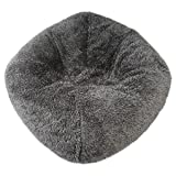 Fuzzy Bean Bag Chair Gray