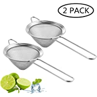 """Fine Mesh Strainer For Bar -Stainless Steel Conical Strainer For Cocktail Drink Bar Strainers Bartender Bar Tool, 3.5"""" Inch, CTSN0010 (2 Piece)"""
