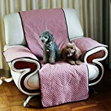 Reversible Furniture Protector Cover, Recliner Furniture Protectors From Cats Dogs Scratching, Non-Sticky Single Dog Cover Chair Covering Cloth Mat Perfect for Families with Pets and Kids (Pink)