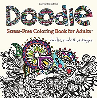 doodle adult coloring book stress free coloring books for adults - Free Coloring Books For Adults