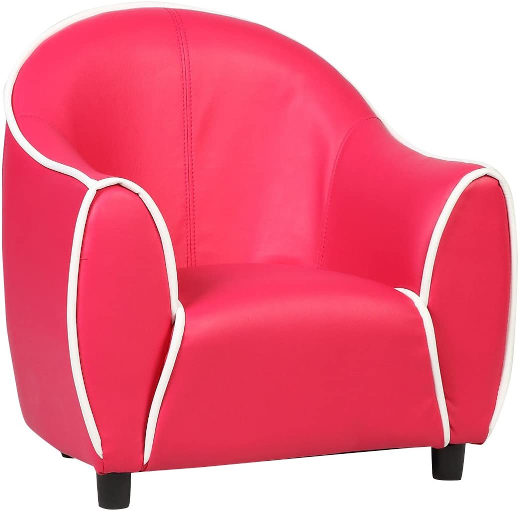 Costzon Kids Armchair Style Armrest Chair Children Room Couch Furniture (Red) Sofas