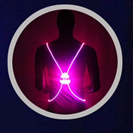 CXZC Chaleco Reflectante LED para Correr, luz de Seguridad ...