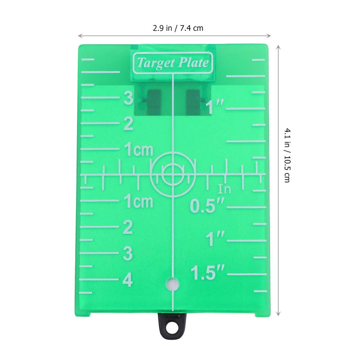 Yardwe Tarjeta de la placa del objetivo l/áser para el piso magn/ético con soporte para el tablero de objetivos de nivel de l/íneas verdes verde