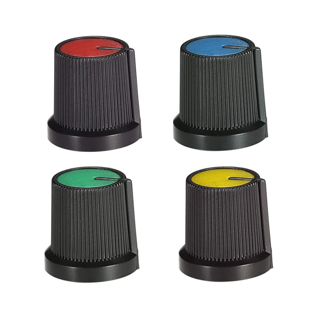 uxcell 10Pcs 6mm Shaft Hole Knob for Speaker Effect Pedal Amplifier Potentiometer Knob