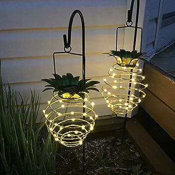 Lámparas solares exterior jardin Impermeable Luces de Piña Samtlan ...