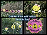 Girl Bumble Bee Party Decorations - Complete Party Package - Hot Pink and Yellow