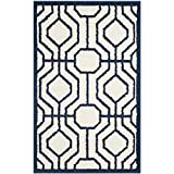 Cheap Safavieh Amherst Collection AMT416M Ivory and Navy Indoor/Outdoor Area Rug (2'6″ x 4′)