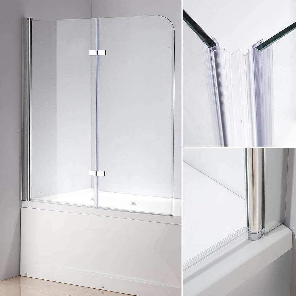 139 x 119 cm bañera Mampara de cristal bañera plegable pared ducha pared nuevo: Amazon.es: Hogar