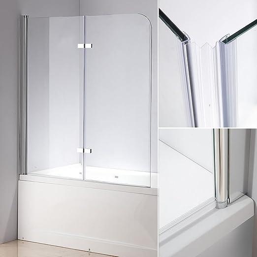 139 x 119 cm bañera Mampara de cristal bañera plegable pared ducha ...