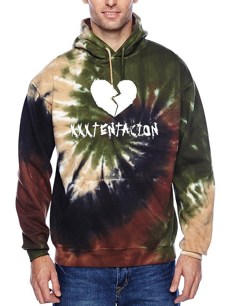 Allntrends Men's Colorful Hoodie Xxxtentacion Trendy Top Hot Cool Rap Top Camo Swirl)