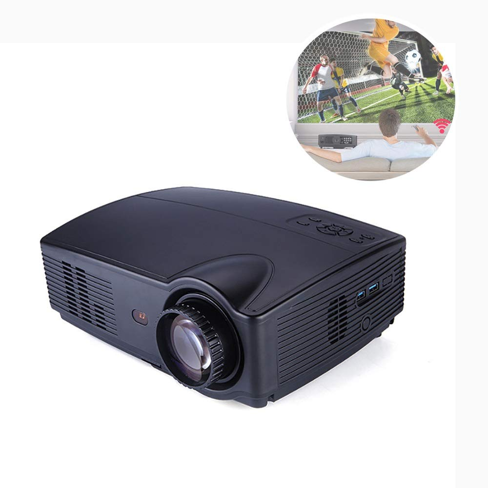 LiChenYao HD Projector SUV-328 LED Home Office Education Multi-Function Projector (Color : Black) by LiChenYao