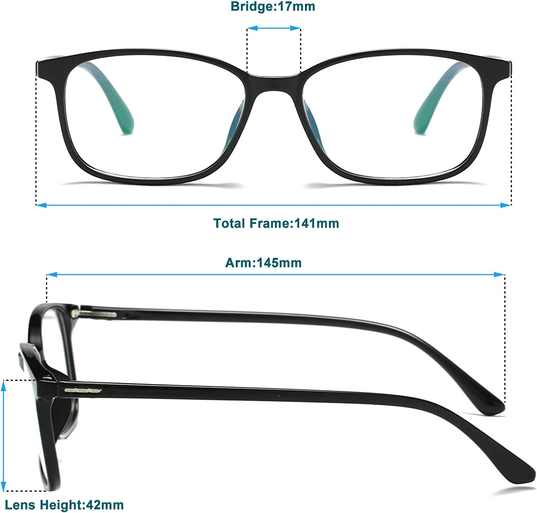 Anti Eye Strain Headache And Sleep Better UV400 Transparent Lens Computer Game Glasses Lightweight Eyeglasses Frame Blue Light Blocking Glasses