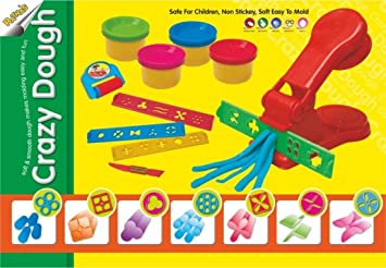 amazon com tanman crazy dough clay art game set for kids toys games