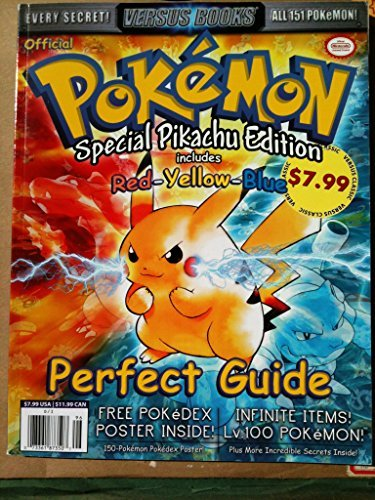(Versus Books Official Pokemon Perfect Guide Includes Red Yellow Blue Special Pikachu Edition)