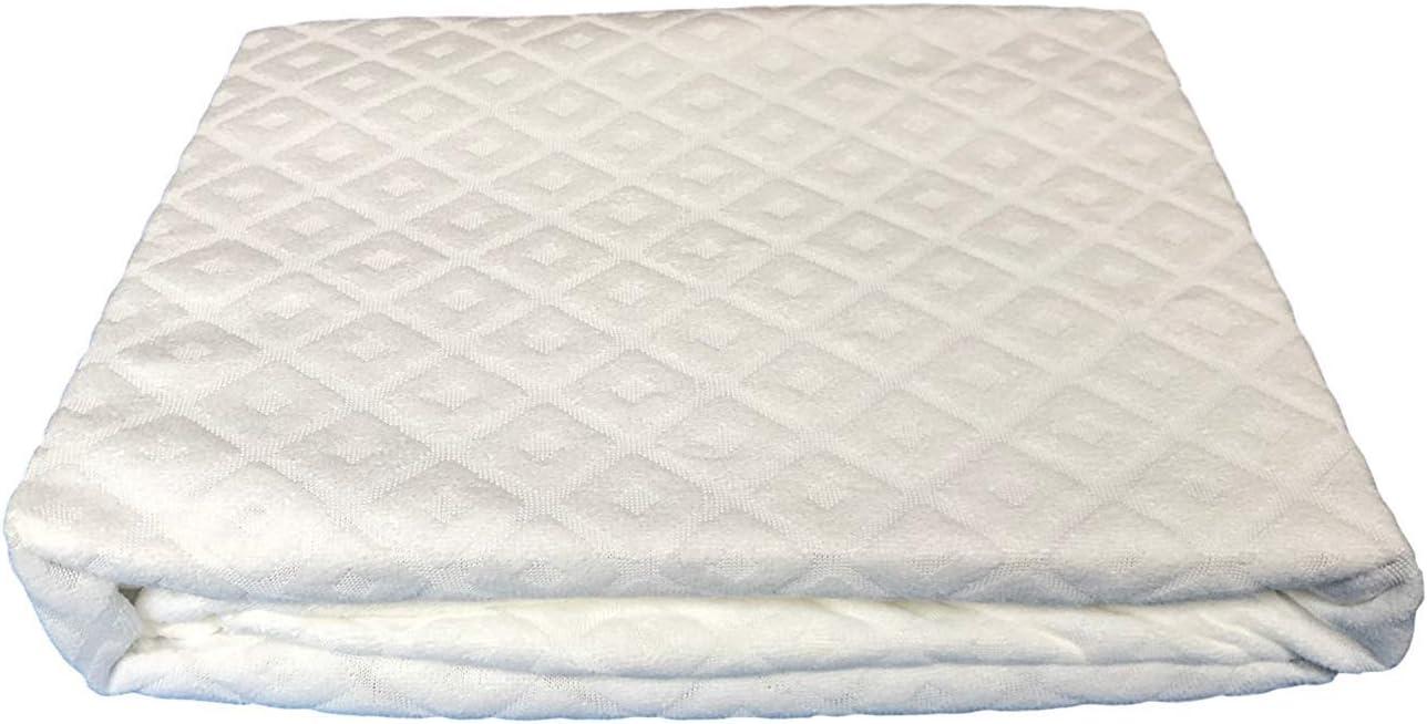 Euronovit/à EN-221787 Coprimaterasso Singolo con Angoli Estensibili Cotone 200 x 90 x 27 cm Bianco