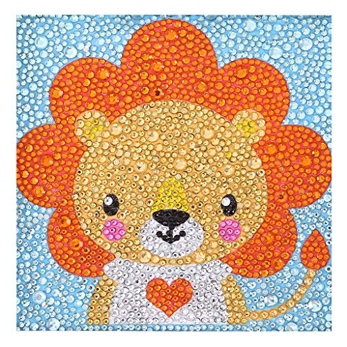 5D DIY Partial Drill Diamond Painting, Embroidery Painting Kit,Cute Animal Embroidery Paintings Rhinestone Pasted Cross Stitch for Adults or Kids,Home Wall Sticker Decor for Bedroom (G)