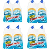 The Works Disinfectant Toilet Bowl Cleaner Value Pack 64 fl oz, Pack of 4
