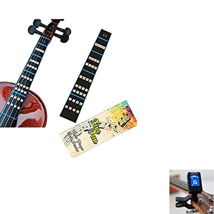 Amazon com: Violin Clip-on Tuner and Fretboard Note Decals