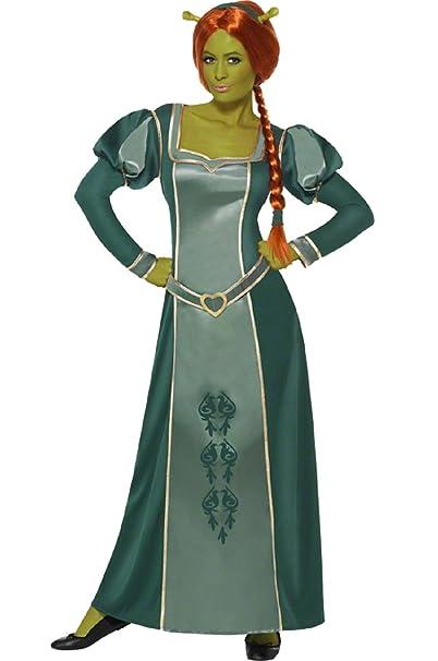 Amazon.com: Ladies Shrek Fiona Disney Princess Long Full ...