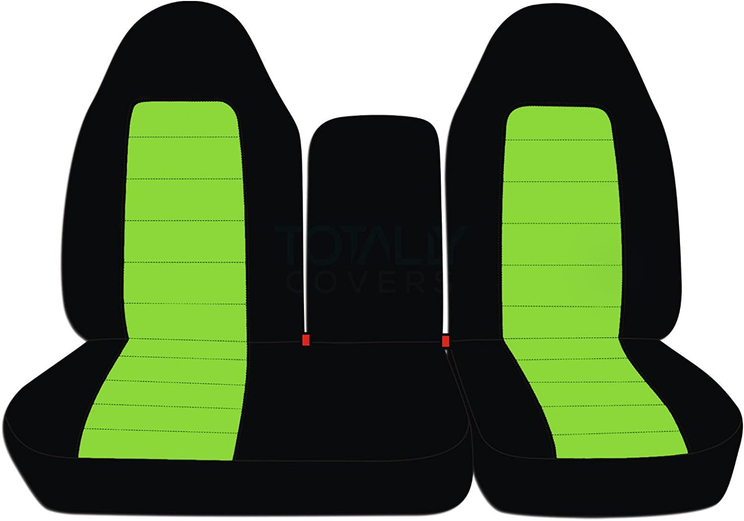 21 Colors F-Series F150 with Opening Center Console//Solid Armrest: Black /& Gray Front 40//60 Split Bench Totally Covers Compatible with 1997-2000 Ford F-150 Two-Tone Truck Seat Covers