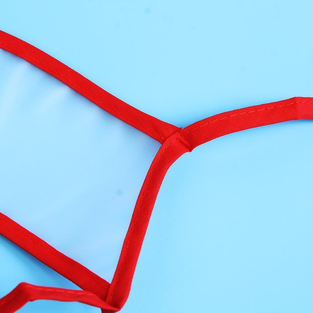 Everpert - Baberos impermeables para bebé, diseño de dibujos animados Strawberry