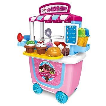 Juega Juguetes Niñas Pretender juguete, E T 31pcs Simulación Helado de Coches Juguete Llevar Regalos de cumpleaños Caja de Juguete Kits para niños de 3 años ...