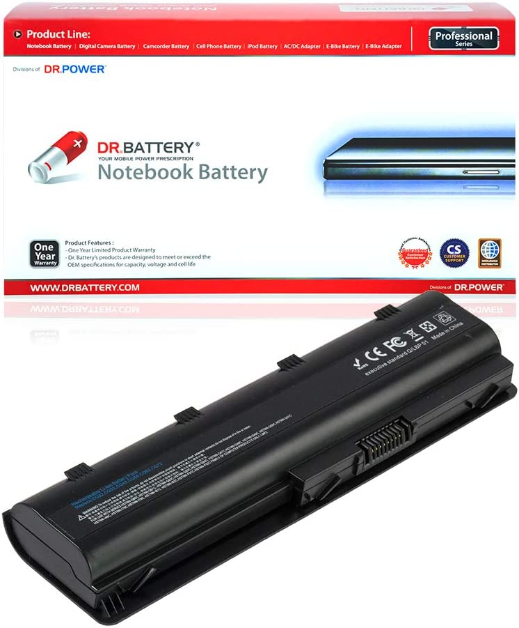 DR. BATTERY HP Laptop Battery 593553-001 Replacement Battery for HP Laptop MU06 Notebook Battery HP Pavilion DV6 Battery DV7 HP Pavillon Battery HP Compaq Presario CQ42 [10.8V / 4400mAh / 48Wh]