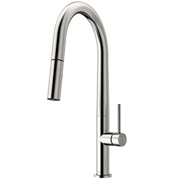 Vigo Vg02029st Greenwich 18 Inch Single Handle Brass Kitchen Faucet