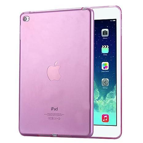 FAS1 iPad 2/3/4 Funda, Transparente Suave TPU Silicona Carcasa Trasera Protector para Apple iPad 2/3/4 (Rosa)