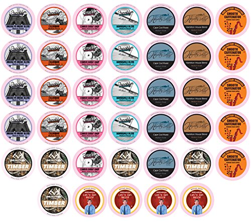 Two Rivers Medium Roast Variety Pack Coffee Pods, Compatible with 2.0 Keurig K-Cup Brewers, 40 Count by Two Rivers...