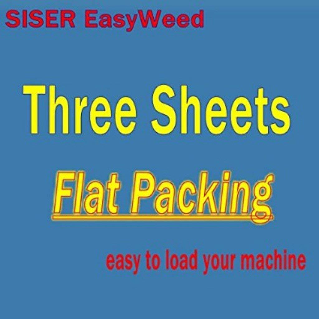 Charcoal, 3 pack Siser EasyWeed 15x12 Sheet
