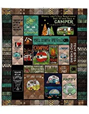 LIVIN' ILLUSION Camping Quilt Pattern Blanket Quilted Christmas Birthday Customized Little Kids Graduation Gifts All Season Warm Quilt Blanket for Bed Sofa