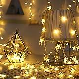 MengK LED Star String Lights, 16.4Ft 40er Fairy String Light for Indoor, Outdoor, Bedroom Decor, Christmas Tree, Party, Wedding, Garden, Festival, Home DIY Decoration - (16.4ft, Star String Lights)