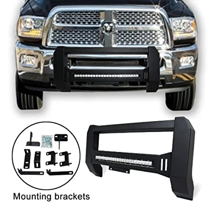 Tuokiy Modular Bull Bar For 2009 2017 Dodge Ram 1500 Pickup Truck Front Bumper Guard Fine Textured Black With Led Off Road Lights