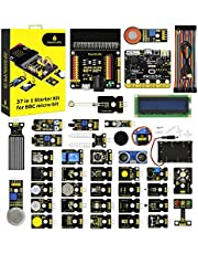 KEYESTUDIO 37 in 1 Sensor Kit for BBC Micro:bit w/Controller Board, Tutorial for Beginners and Kids to Learn Electronics for Microbit Starter Kit