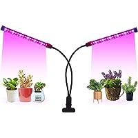 LED Grow Light Timer(3/9/12 hrs) 3 Light Mode 5 Level Dimmable Flexible Gooseneck Clip On Grow Plant Lamp for Indoor…