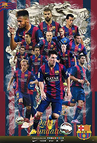 aa0b7c8bd O-88030 Barcelona , Braca 2014/2015 All Players Football,soccer Team Poster  - Rare New - Image Print Photo: Amazon.co.uk: Kitchen & Home