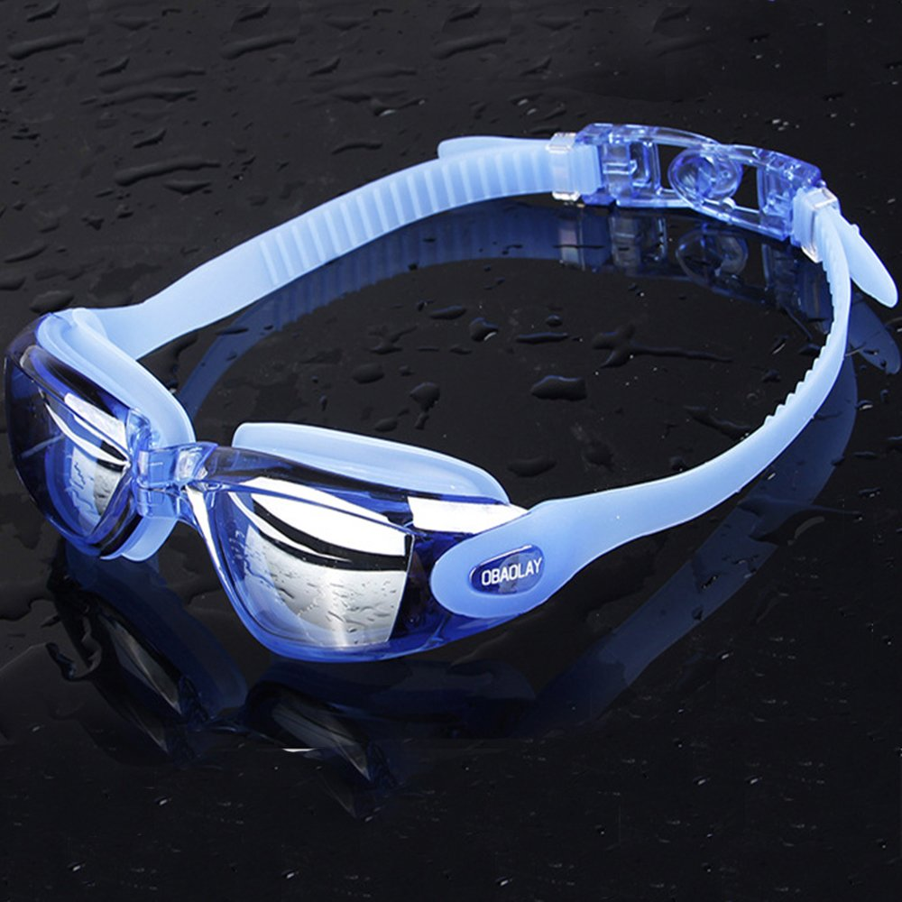 deee6f6d5dc E-Link Swimming Goggles for Men Professional Anti Fog Swim Goggles for  Women  No Leaking UV ...