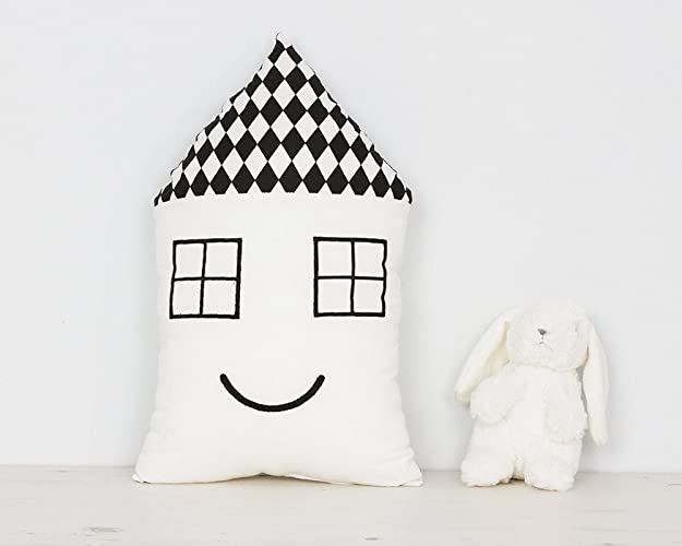 House Shaped Nursery Pillow Kids Room Cute House Cushion In