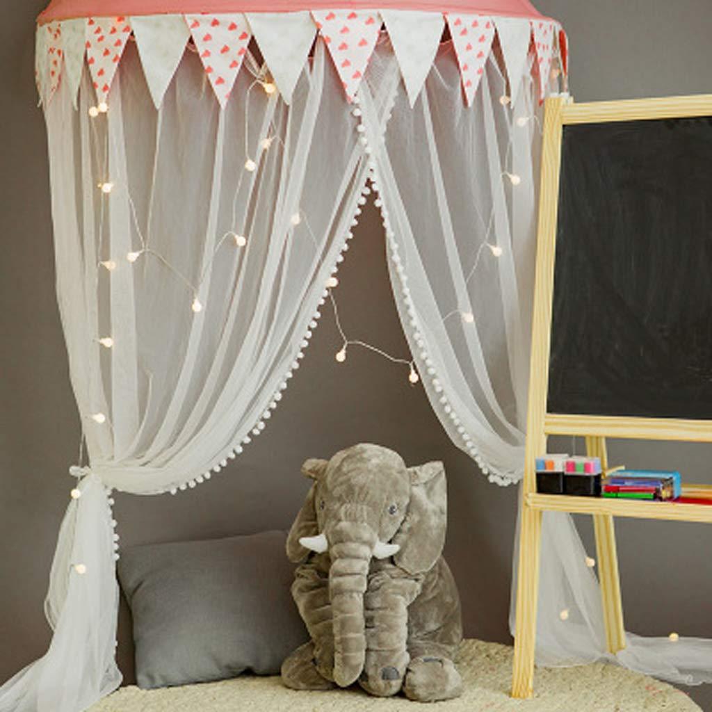 Baby Betthimmel Baldachin Wand Kinderzimmer Moskitonetz Bett Baby Zelt Spielen Kinderzimmer Dekor F/ür Kinder(Rosa)