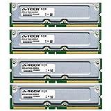 2GB KIT (4 x 512MB) For Gateway Performance Series 1500 (RDRAM). RIMM RD NON-ECC 800-40 800MHZ 40ns RAM Memory. Genuine A-Tech Brand.