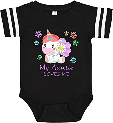 inktastic Best Niece Ever Unicorn from Aunt Long Sleeve Creeper
